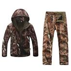 Set jas & broek softshell camouflage