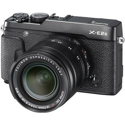 Fujifilm X-E2S Mirrorless Digital Camera - Black with 18-55mm Lens