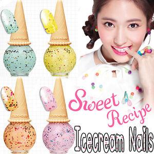 Etude-House-nuevo-Dulce-receta-Icecream-Unas-4-Colores-Cosmetico-de-Corea
