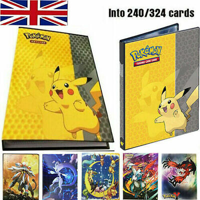 For Pikachu Ultra Pro Pokemon Card Folder 240 Pockets Portfolio Binder Album UK