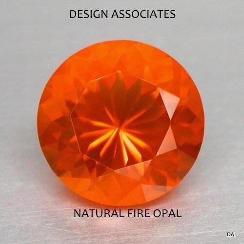 MEXICAN FIRE OPAL 5 MM ROUND CUT ALL NATURAL BEAUTIFUL COLOR