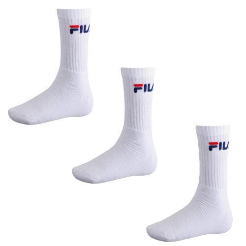 logo federale 35-46 Fila 3 paia di calze unisex-in spugna da tennis Crew Socks