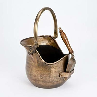 Inglenook Antique Brass Effect Coal Bucket with Shovel #ING003