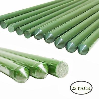 YIDIE Sturdy Metal Garden Stakes Fence Post Plastic Coated Steel Plant Sticks
