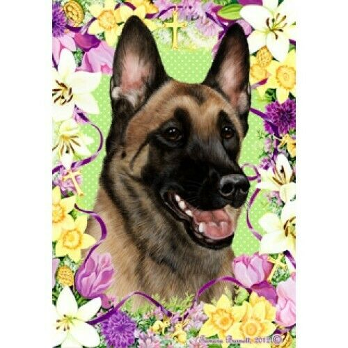 Easter House Flag - Belgian Malinois 33251