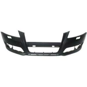 2009-2013 Audi A3 Bumper Front With Sensor/Wash Hole Without Sport Package Primed CAPA