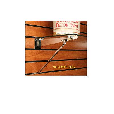 Slatwall Shelf Bracket Support Arm For 12 - 16 Brackets - Chrome - 24 Pieces