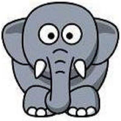 30 Custom Cartoon Elephant Personalized Address Labels Elephant Address Label
