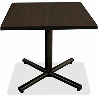 Lorell Hospitality Espresso Laminate Square Tabletop - Square Top - 36 Table