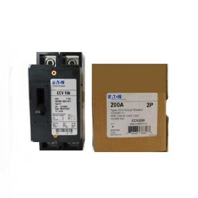 Eaton Ccv2200x Type Cc Circuit Breaker 2-pole 200 Amp 120240v New In Box
