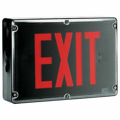 Thomas Betts Emergi-lite Led Exit Sign Nema-4x Poly. Black 120277vac Bbsvx1r
