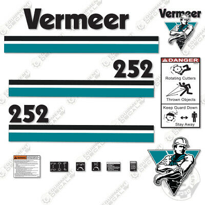 Vermeer 252 Decal Kit Stump Grinder
