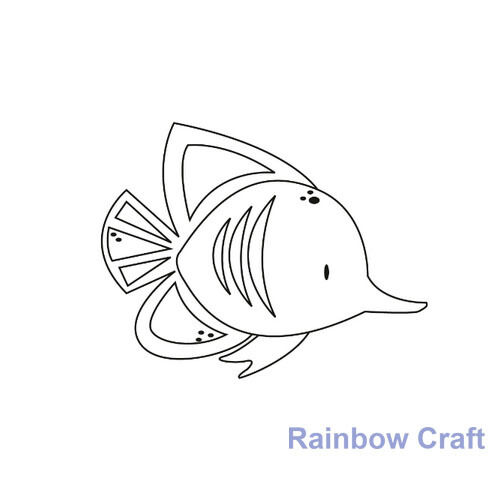 Kaisercraft mini stamps - 26 wording / patterns Scrapbooking card making - Fish