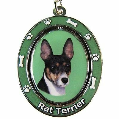 "RAT TERRIER ""Spinning"" Key Chain"