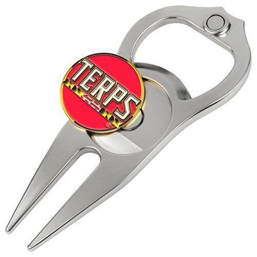 maryland terrapins hat trick divot tool bottle
