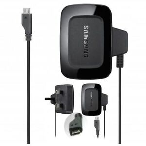 Genuine Samsung Mains Phone 3 Pin Wall Plug Charger For Galaxy ACE 3,A3,A5,J3,J5