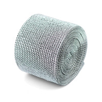"Diamond Mesh Wrap Roll, 4.5"" x 10 Yard (NEW) Silver or Gold"