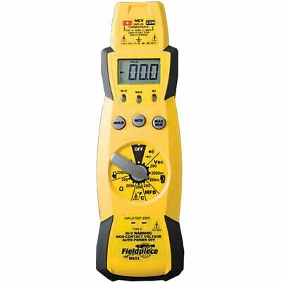 Fieldpiece Hs33 Expandable Manual Ranging Multimeter For Hvacr