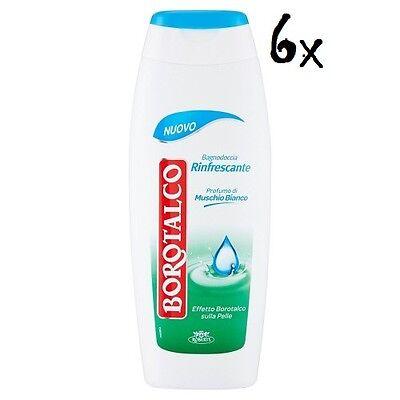 6x BOROTALCO Rinfrescante Duschegel Badeschaum bath foam 500ml weißer Moschus