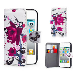 DESIGN PU LEATHER FLIP CASE COVER FOR IPHONE 5/5S +SCREEN PROTECTOR