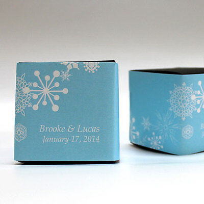 100 Winter Finery Snowflake Printed Favor Boxes Wedding Favors