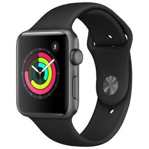 Apple Watch Series 3 (GPS) 42mm Space Grey Aluminium MTF32CL/A - Montre Intelligente Noir / Gris Cosmique - BESTCOST.CA