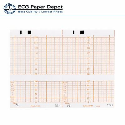 Hpphilips Ecg Recording Paper Ekg Printing Chart M1910a Red 40 Pack Size 150x49