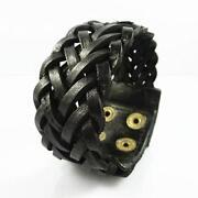Wide Leather Cuff Bracelet