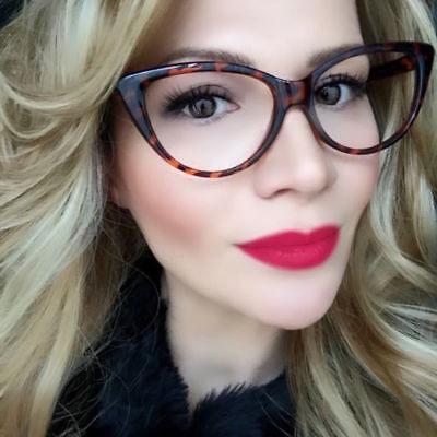 Thin Elegant Cat Eye Fashion WaYfe Frames Clear Lens Eyeglasses Glasses 80475 (Clear Cat Eye Glasses Frames)