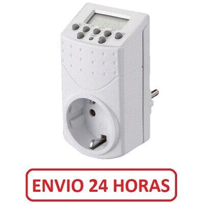Temporizador eléctrico digital 16A 220V Programador Envio España 24h 15