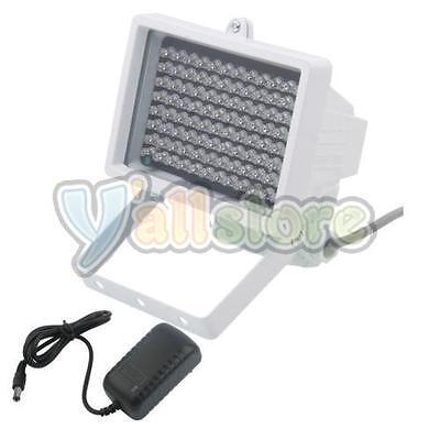 96LED Night Vision IR Infrared Illuminator Light Lamp for CCTV Camera + Adaptor