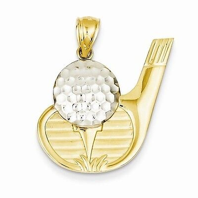 14K GOLD TWO TONE GOLF BALL AND GOLF CLUB CHARM  PENDANT   ()