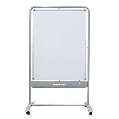 Dry Erase Board Stand (VIZ-PRO Mobile Whiteboard Magnetic Dry Erase Board Double Sided with Steel)