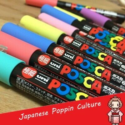 UNI POSCA MARKER PC-1M PAINT PENS EXTRA FINE BULLET TIP 0.7 mm COLOR FROM JAPAN