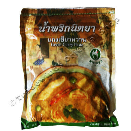 Authentic Thai Premium Green Curry Paste (1kg) By Nittaya *** Uk Seller ***