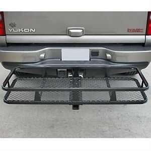 Basket Style Bumper Cargo Hitch Carrier with a 500 lb. Capac