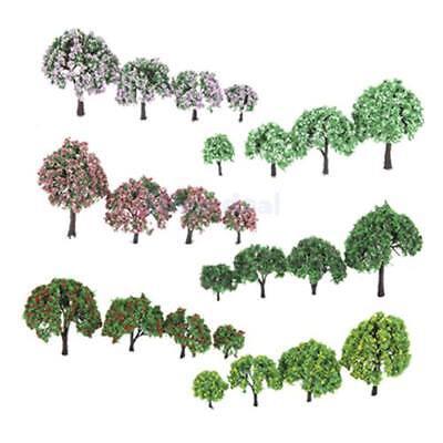 026 Blume Bäume Zug Kunststoff Trunk Set Landschaft (Tannenbaum Zug Set)
