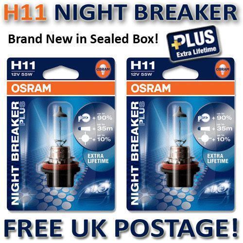 osram night breaker plus h11 ebay. Black Bedroom Furniture Sets. Home Design Ideas