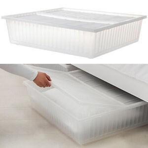 IKEA GIMSE BOX Bettkasten Unterbettkommode Kommode Unterbett mit Deckel NEU