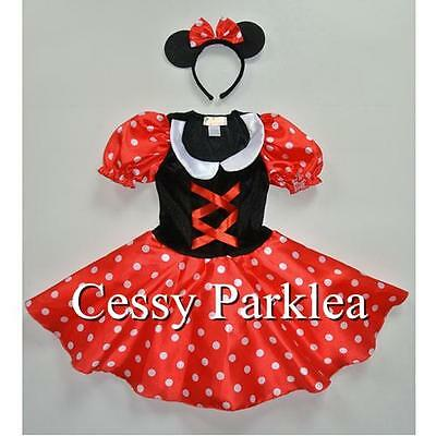 M4-1 Girls Minnie Mouse Fancy Dress Up Disney Cartoon Character Costume S M L AU - Cartoon Character Costumes For Girls