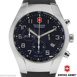 SWISS ARMY VICTORINOX - ST CHRONOGRAPH MEN'S BLACK DIAL WATCH