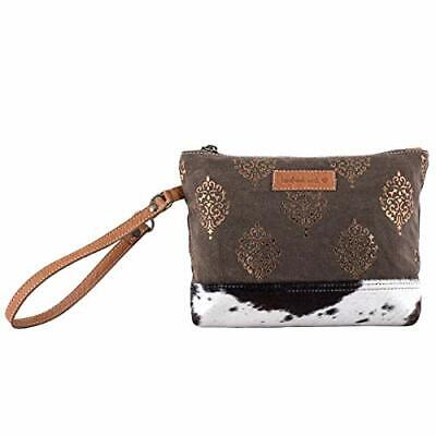 Sixtease Pouch Womens Bag - Canvas And Leather Bag - Dimensional Pouch