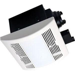 Bathroom fan shower fan super quite exhaust heater light combination 110 cfm for Bathroom fan heater light combo