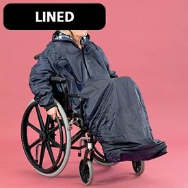 WHEELCHAIR MAC - FULLY LINED. FULL LENGTH WITH HOOD & SLEEVES. NEW