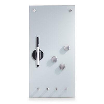 Magnet-Tafel Glas Weiß Pinnwand Whiteboard Wandtafel Memoboard Pinwand Memobord
