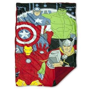 Marvel Avengers Mink to Sherpa Blanket 40 x 60 Official Licensed