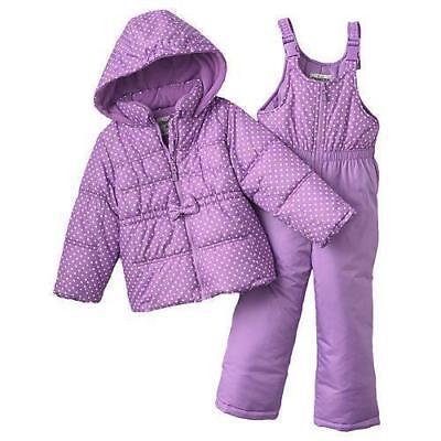 Toddler Oshkosh Girls 2 PC Snowsuit Jacket & Pants Lavender