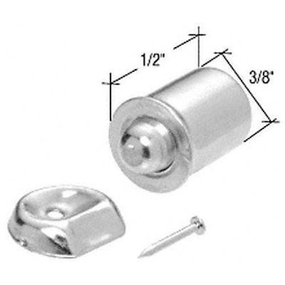 Nickel Plated Shower Door Bullet Catch Keeps Shower Door Clo