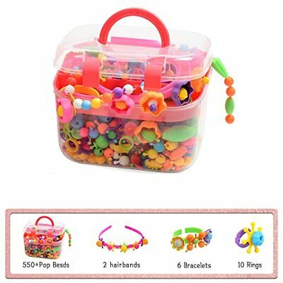 550+Pop Beads Jewelry Making Kit - Arts and Crafts for Girls Age 3 4 5 6 7 Ye...