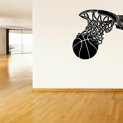 Wall Vinyl Sticker Decals Decor Basketball Ball Basket Sport (Z1227) for sale  Shipping to India